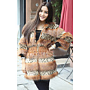 Fine-Looking Long Sleeve Faux Fur Career/Party Coat