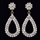 Charming Alloy Drop Design Design Crystal Earrings