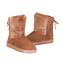 Damen Multi-Color Suede EVA Anti-Rutsch-Waterproof Warming Mid-Calf Flach Snow Boots (verschiedene Farben)