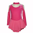 Girl's Velvet Figure Skating Dress (Pink)