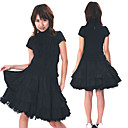 Short Sleeve Knee-length Black Cotton Classic Lolita Outfit