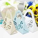 Laser Cut Flower Favor Bag - Set of 12 (More Colors)