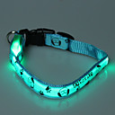 Adjustable Lovely Dog Pattern Night Safety LED Flash Collar for Dogs (Assorted Color,Neck:22-30cm)