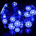 2,5 M Loto Azul Lmpara LED String con 20 LEDs - Decoracin de Navidad y Halloween (batera Uso)