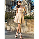 A-line Sweetheart Knee-length Chiffon Cocktail Dress With Flowers