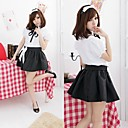 Cute Black and White Polyester School Uniforms (3 Pieces)