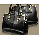 Women's Fake Crocodile Candy Color Tote