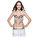 Dancewear Polyester With Beading /Tassels Performance Belly Top/Belt For Ladies More Colors