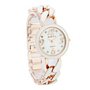 Women's Alloy Quartz Movement Glass Round Shape Dress Watch