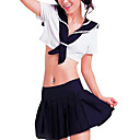 Hot Girl Ink Blue and White Polyester Sailor Suits (2 Pieces)