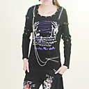 Manga comprida de algodo Punk Lolita T-shirt