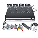 4 Channel DVR Kit with Smartphone Viewing &amp; 4 x Outdoor Cameras