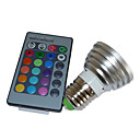 5W Multi-color LED Bulb with Remote  (4 Packs)