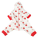Strawberry Girl Pattern Pet Hoodie Jumpsuits for Dogs(XS-M)