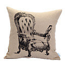 Royal Chair Print Decorative Pillow Cover