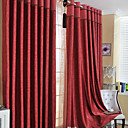 (Two Panels) Clsaaic Floral Embossed Blackout Curtains