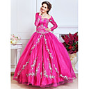 Ball Gown Strapless Floor-length Organza Evening Dress With Beading And Embroidery