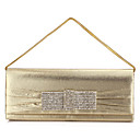 Gorgeous Polyester with Crystal Evening Handbag/Clutches(More Colors)