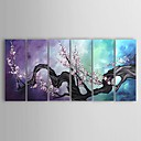 Hand-painted Floral Oil Painting with Stretched Frame - Set of 6