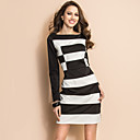 TS Black And White Wide Stripes Sheath Dress