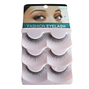 3 Pair Black Fiber eyelash False Eyelashes(B-001)