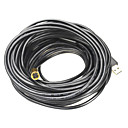 IP67 Waterproof USB 2.0 CMOS 10mm Lens 4-LED Snake Camera Endoscope - Black + Golden (20m)