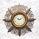 "24.5"" Traditional Floral Metal Wall Clock"