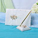 Wedding Guest Book And Pen Set With Seashell