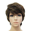Capless 100% Human Hair Chocolate Short Straight Hair Wig