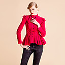 TS Long Sleeve Ruffle Pleats Blouse Shirt(Two Colors)