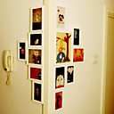 Élégant Collection Blanc Cadre Photo Wall - Ensemble de 13