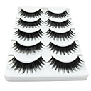 5 Pair Black Fiber eyelash False Eyelashes (5-014)