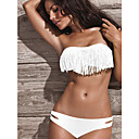 vrouwen bandeau strapless witte acacia badmode