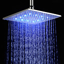 10 inch Brass Shower Head with Color Changing LED Light