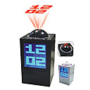 Desktop Digital Alarm Clock Calendar Thermometer Time Projector (Random Color, 3xAA)