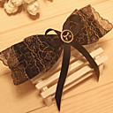 Women's Golden Embroidery Lace Bow Top Hair Clip