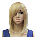Capless 100% Human Hair Golden Short Straight Bob Hair Wig