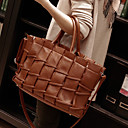 Women's Basic Trendy Woven Satchel
