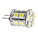 G4 3.5W 18x5050 SMD 280-300LM 6000-6500K Bianco Naturale lampadina LED Light Corn (12V)