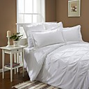 White Hand-Made 250TC Twin / Queen / King 3-Piece Duvet Cover Set