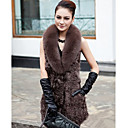 Shawl Collar Fox Fur &amp; Lamb Fur Casual/Party Vest (More Colors)