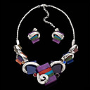 Women's Mystical Elements Earrings and Necklace Set