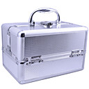 Aluminium Alloy Three Layers Lockable Professional 24*16*16cm Cosmetic Box