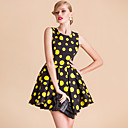 ts vintage rockabilly meisje polka dot bal jurk