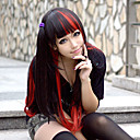 Lolita Wig Inspired by Black and Red Mixed Color 70cm Punk