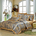 Ives Jacquard Full / Queen 4-Piece Duvet Cover Set