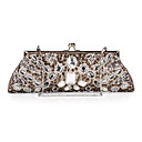 Unique Satin with Acrylic Crystals Evening Handbag/Clutches(More Colors)