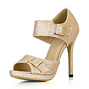 Eleganti Sparkling Glitter sandali tacco a spillo con fibbia party / scarpe da sera