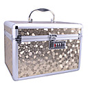 Aluminium Alloy Double-deck Lockable Professional 26*17*18cm Cosmetic Box