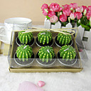 Lovely Cactus Shaped Candle Favor (Set of 6 Pieces)